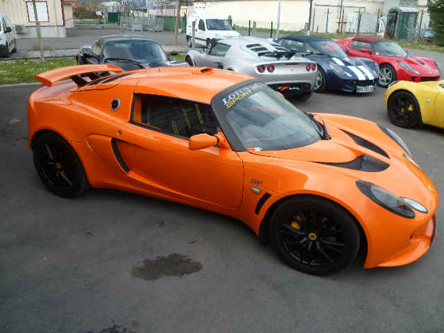 lotus exige s chrome orange